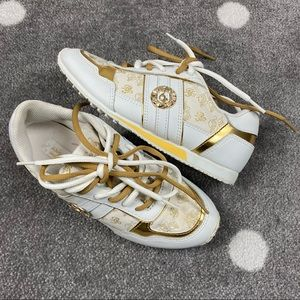 Baby Phat Vintage 2000s Gold/White Sneakers